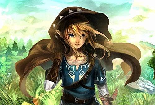 EDZXC-La Leyenda de Zelda, Puzzle 1000 Piezas Adultos,Rompecabezas de Madera, Juguetes intelectuales,...