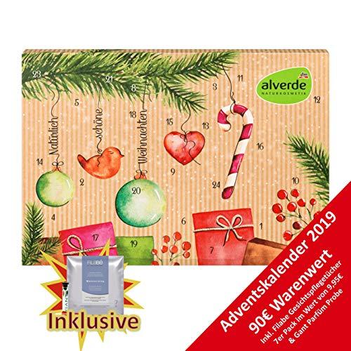 Alverde Frauen Adventskalender 2019 mit Naturkosmetik - Advent Kalender mit Bio Beautyprodukten für Sie, Kosmetik Kalender im Wert von 90 €, Pflegeprodukte für die Frau, Damenkalender Frauenkalender