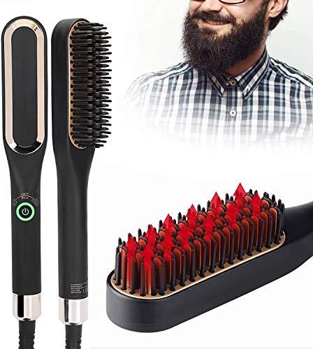 Cepillo alisador de barba, alisador de barba para hombres, cepillo eléctrico multifuncional para barba, cepillo para el pelo, alisador de pelo 160 °C