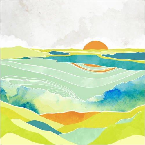 Posterlounge Cuadro de metacrilato 50 x 50 cm: Moss Hills de SpaceFrog Designs