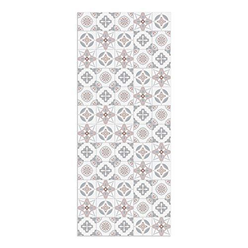 DON LETRA Alfombra Vinílica Baldosas, 120 x 50 cm, Color Rosa, Vinilo PVC Estampado, Grosor 2.2 mm, ALV-087