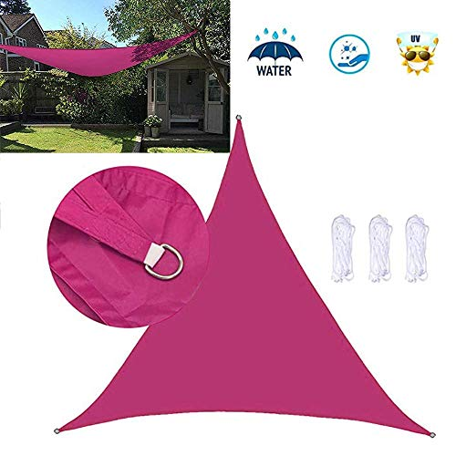 Dalovy Garden Triangle Sun Shade Sail Sun Protection Outdoor Patio Party Sunscreen Canopy Sunsail Anthracite Sunshade Waterproof Awning Breathable UV Protection, Rose Red