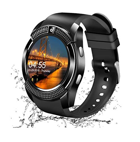 Smart Watch, orologio da polso Bluetooth con schermo tattile e slot per scheda SIM, impermeabile, per smartphone Android, iPhone, iOS, Samsung, Huawei, per uomini e donne e bambini