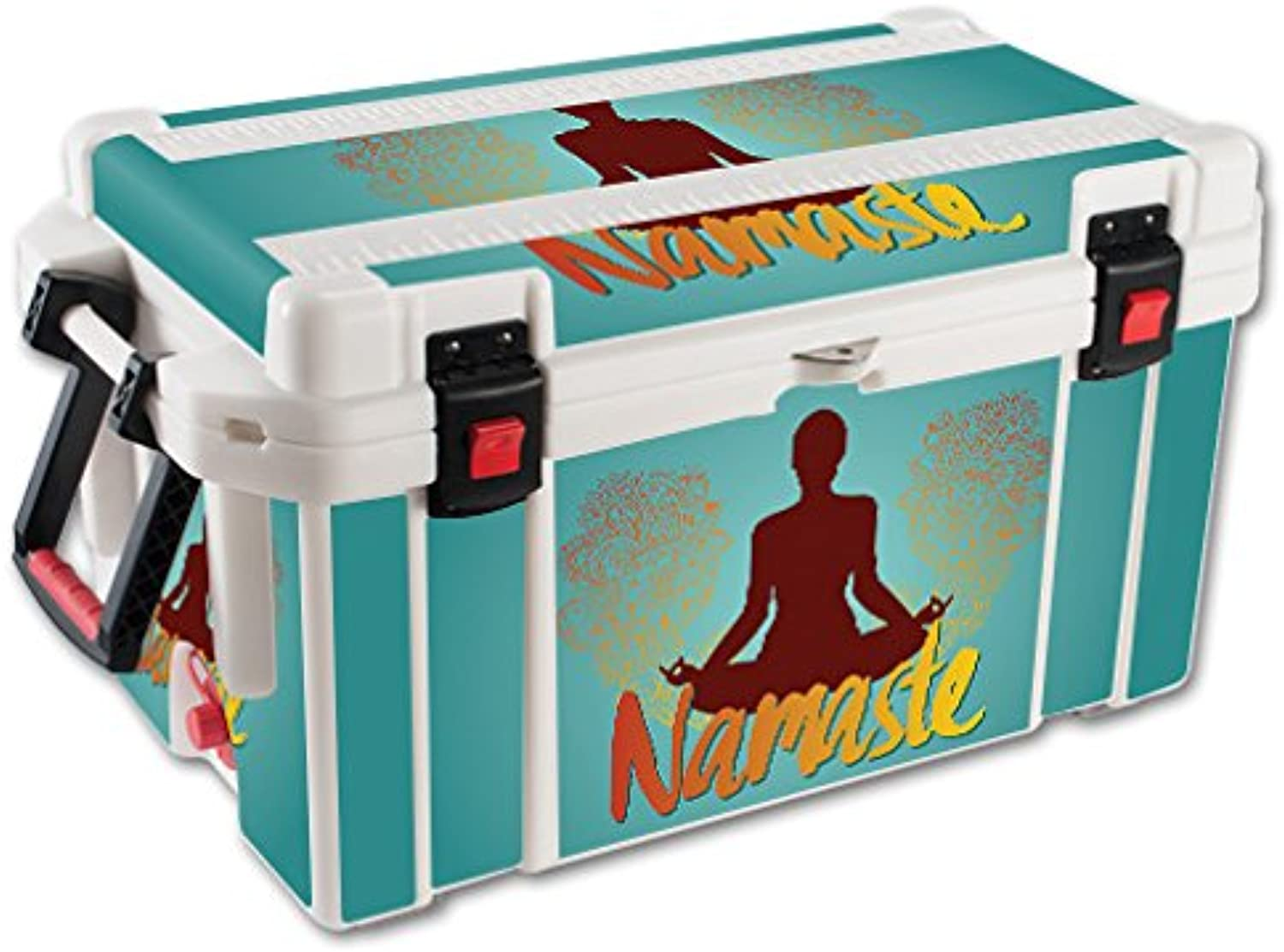 MightySkins Skin Compatible with Pelican 65 qt Cooler – Namaste   Predective, Durable, and Unique Vinyl Decal wrap Cover   Easy to Apply, Remove, and Change Styles   Made in The USA