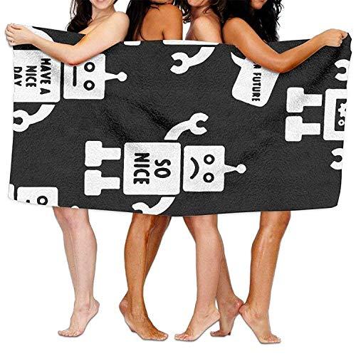 LOPEZ KENT microvezel zand gratis strandhanddoek deken, absorberende lichtgewicht dunne Handdoeken, dus leuk hebben een leuke dag Robot Beach handdoeken zwembad & reizen & bad handdoek 80cmx130cm