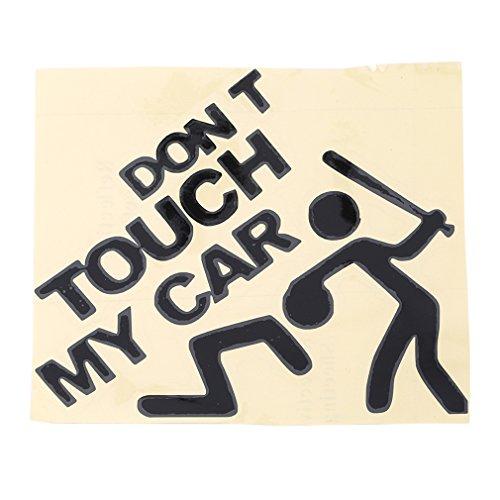 Yinew Don't Touch My Voiture Funny Autocollant de voiture étanche de voiture Body Bumper Sticker, Noir , As description