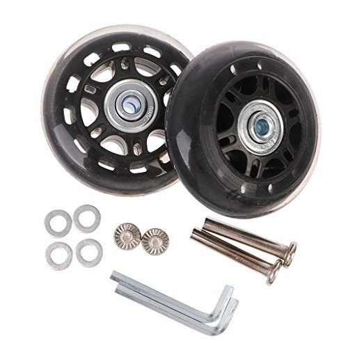 Yushu 360 ruedas giratorias de repuesto para maletas de equipaje, ruedas de repuesto, accesorios de equipaje, maleta, ruedas de repuesto de llave de reparación de ejes