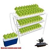 90穴キット付き水耕栽培システム、ミュートポンプとスポンジを備えた垂直水耕栽培PVCパイプ植物野菜