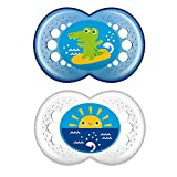 MAM Crystal Pacifier (2 pack, 1 Sterilizing Pacifier...