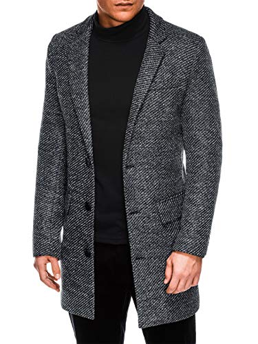 BetterStylt Mannen business-mantel peper & zout optiek PepperSaltBZ (S-XXL)