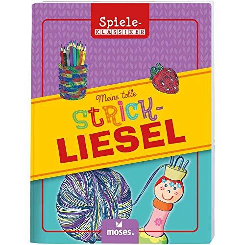 Moses Mijn leuke gebreide tegels in set | Spiel-klassieker in metalen doos | Met boek, breisel en wol