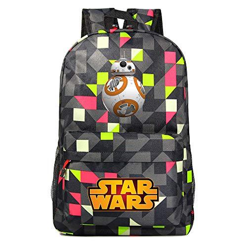 Mochila Star BB-8 Wars, Mochila Casual para Adolescentes, Mochila Grande Ligera Escuela, Mochila de Senderismo de Viaje Medio color-16