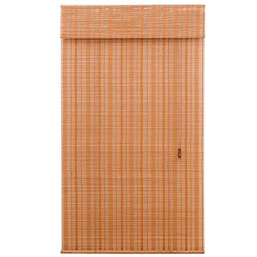 Estores Enrollables Persianas enrollables para interiores: fácil de instalar, cortina de bambú retro para salón de té, hotel, caída de 260 cm / 20 cm / 150 cm / 100 cm, todas las piezas de instalación