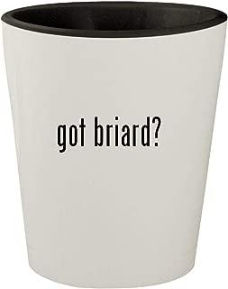 got briard? - White Outer & Black Inner Ceramic 1.5oz Shot Glass