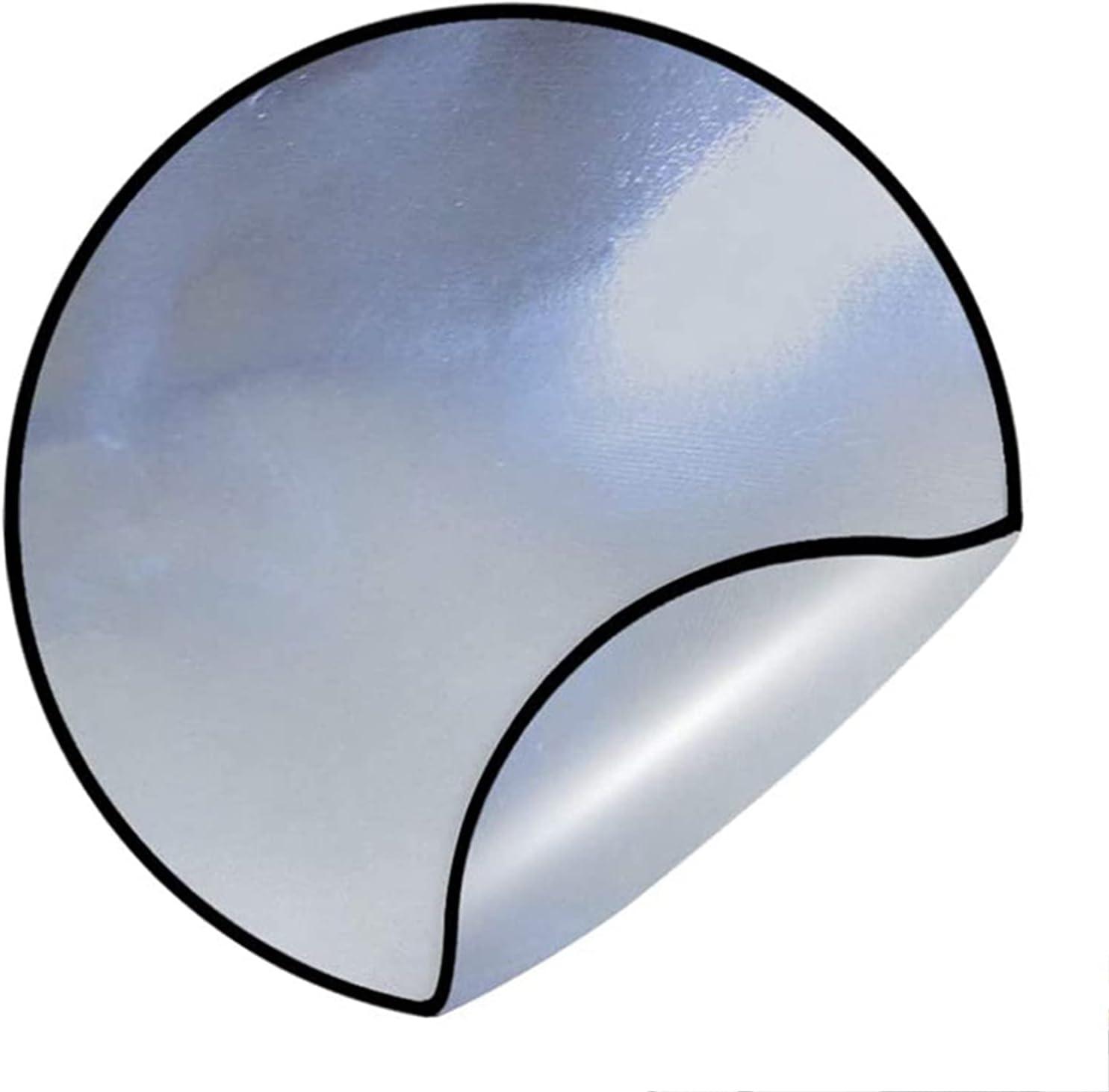 WYYUE Alfombrilla para fogatas de Papel de Aluminio de Fibra de Vidrio Fácil de Limpiar, Alfombrilla para Parrilla Resistente al Fuego, Alfombrilla ignífuga Alfombrilla Resistente al Calor