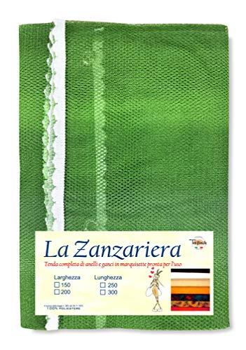 Tex family Tenda Rete ZANZARIERA da Esterno Giardino Balcone sfumato Verde CM.150X250