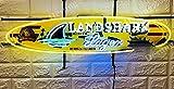 Desung 32'x14' Landshark Lager Surfboard Premium Island Style Neon Sign Light Lamp HD Vivid Printing Technology Handmade Beer Bar Pub Man Cave HD39