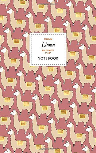 Price comparison product image Llama Notebook - Ruled Pages - 5x8 - Premium: (Earth Edition) Fun notebook 96 ruled / lined pages (5x8 inches / 12.7x20.3cm / Junior Legal Pad / Nearly A5)