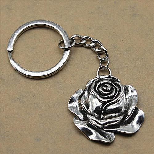 Zbzmm accessoires sleutelhanger huwelijk geschenk auto roze voor gasten hanger 36 x 33 mm antiek zilver