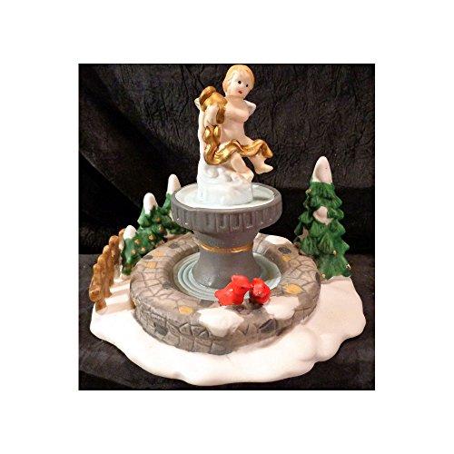 Santas Workbench Collection Accessories Cherub Fountain Porcelain Christmas Village