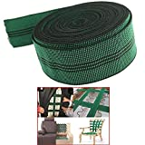 Pmsanzay Elastic 10% Stretch Latex Webbing Upholstery Elasticated Band Strap Belt Elastic Spool 2