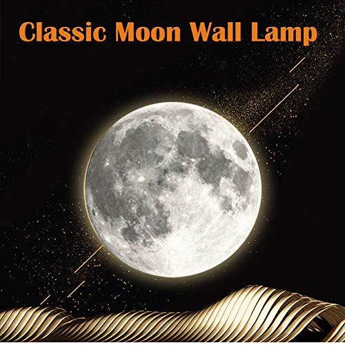 "Zulux 3D Moon Lamp – 10"" LED Moon Light Lamp Luna Moon Lamp with Remote Control and 12 Moon Phases, 3D Moon Night Light Moon Wall Light Best Birthday for Kids"