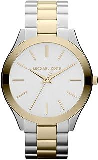 Michael Kors Slim Runway Women's Silver Dial Stainless Steel Band Watch - MK3198