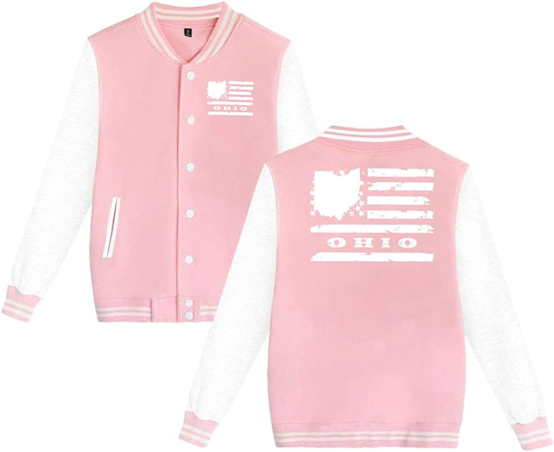 N A Ohio State USA Flag Uniform Jacket Unisex Hoodie Finally popular brand online shop Baseball