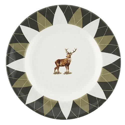 Portmeirion Home & Gifts Spode Glen Lodge - 6' Plates set of 4 - Stag