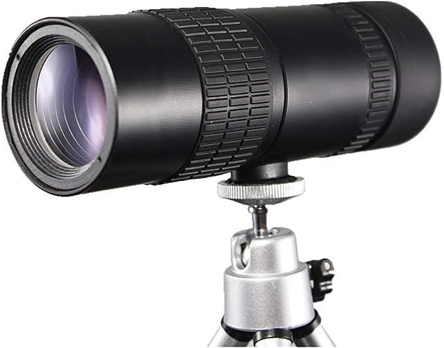 WANGMOO portable 10-24x30 télescope monoculaire à Zoom élevé pour Jumelles Jumelles de Camping avec Vision Nocturne avec trépied