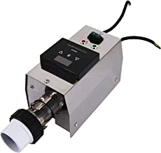 BGSFF Termostato Calentador eléctrico con Pantalla táctil Control de Temperatura Pantalla Digital Impermeable Calentador de Agua para Piscina con Sistema circulatorio 3KW