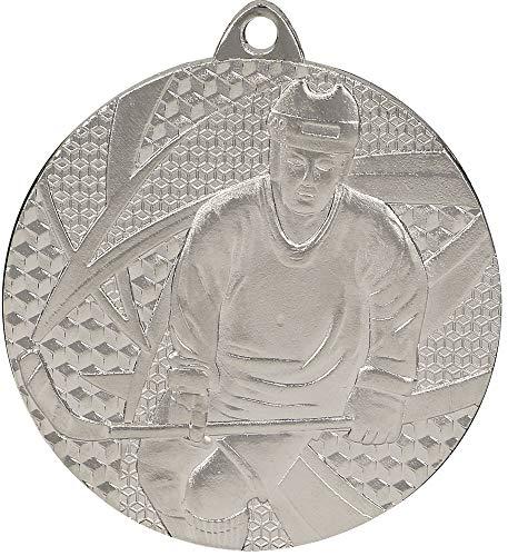 Deitert Medaille Eishockey Ø 50mm mit Band Silber