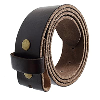 Gelante Genuine Full Grain Leather Belt Strap without Belt Buckle