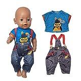 ZEEREE Ropa para Muñecos Bebé New Born Baby Doll, Trajes 17-18 'Ropa de...