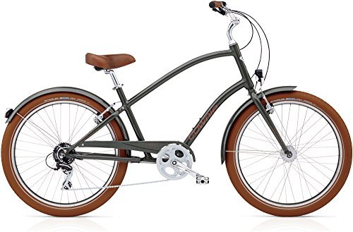 Electra Townie Balloon 8D EQ 537685 - Bicicleta para hombre (26 pulgadas, iluminación Beach Cruiser de 8 marchas), color marrón