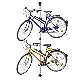 Relaxdays Porta Biciclette Telescopico per 2 Biciclette Regolabile 160-340 cm...
