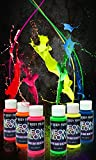 Best Glow In The Dark Body Paints - Neon Glow Blacklight Body Paint #1 Premium Set Review