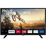 Smart TV LED 32' Philco PTV32G50SN HD com Conversor Digital 2 HDMI 1 USB Wi-Fi Áudio Dolby Preta