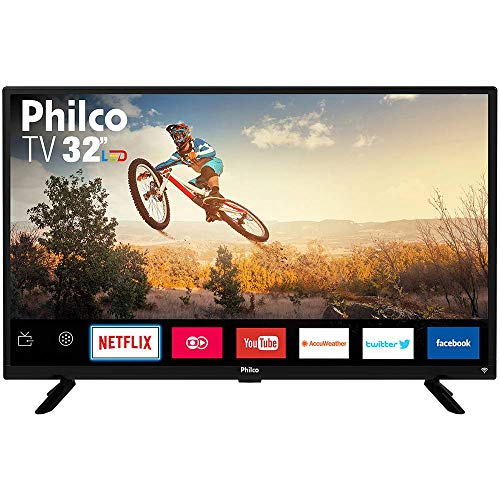 Smart TV LED 32' Philco PTV32G50SN HD com Conversor Digital 2 HDMI 1 USB Wi-Fi Áudio Dolby Preta