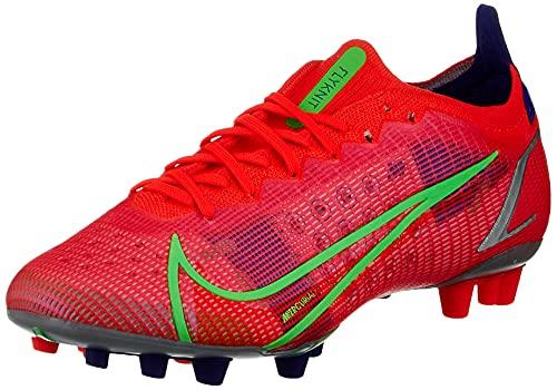 Nike Vapor 14 Elite AG, Zapatillas de ftbol Unisex Adulto, BRT Crimson Mtlc Silver Indigo Burst White Rage Green, 44 EU