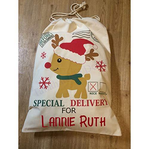 Sac de Père Noël personnalisé avec cordon de serrage