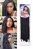 18 (45cm) 100 Grams Synthetic Crochet Braiding Hair HAVANA MAMBO FAUX LOCS (1#) by becret