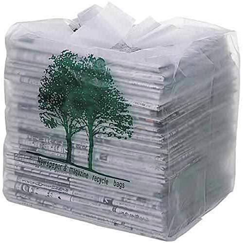 オルディ 新聞紙 回収袋 取っ手付き 整理袋 半透明 縦32×横30cm マチ22cm 厚み0.03mm 箱入り 新聞雑誌収納袋 30枚入