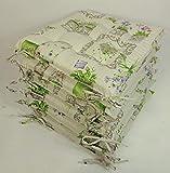 Rattani - Set 6 x Stuhlkissen/Sitzkissen Fabia 40 x 40 cm Dicke 5 cm, Fb. Mirha Leinen Green - Made...