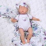 """""""Sweet Swaddlers:Sleeping Lilac""""は、頭からつま先まで16インチのサイズのリアルなスリーピング・新生児用ベビードールです。 FULL VINYL ARMS&LEGS - あなたの小さな子供たちはきっとこの赤ちゃんのために着替えを楽しむでしょう。彼女は3歳以上の女の子に最適な生まれ変わる赤ちゃん人形です - 子供と3歳以上の子供向けのASTM F963の安全基準に準拠しています。 このPreemie人形は、美しい茶色の目、手で描かれたディテール、手でつけたまつげ、本物..."""