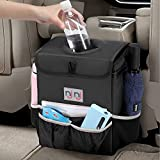 Waterproof Car Trash Can Garbage Bin,Super Large Size Auto Trash Bag for Cars with Lid and Storage Pockets,Leak Proof Vehicle Car Organizer Hanging,Black