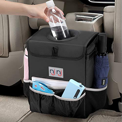 TIDO Portable Car Trash Can 4L Leak-Proof Garbage Bag Umbrella Bucket Auto Interior Storage Bucket Foldable Lightweight Car Garbage Bin Wastebasket for Vehicle Home Office Camping