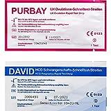 Purbay 50 Ovulationstest 10 miu/ml + 10 Schwangerschaftstest Streifen -