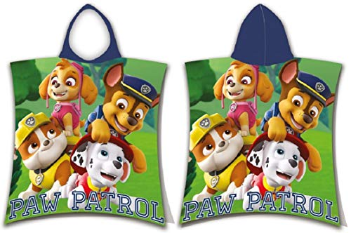 for-collectors-only Paw Patrol Poncho Handtuch Police Club Badetuch Strandtuch Die Hundepolizei Beach Towel Bademantel