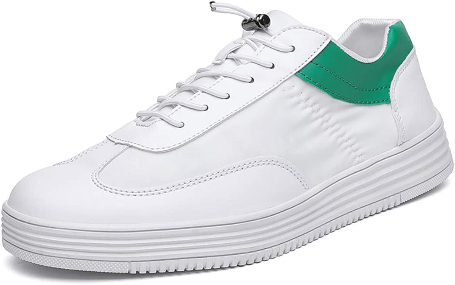 ZYFA Casual shoes Casual shoes leather sports white shoes flat with rubber outsole wear-resistant anti-skid shoes (color   C, Size   44)
